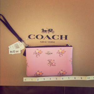 Coach New York NEW! Cross Stitch Floral Wristlet